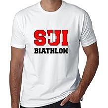 Hollywood Thread Swiss Biathlon - Winter Olympic - Sui Flag Men's T-Shirt