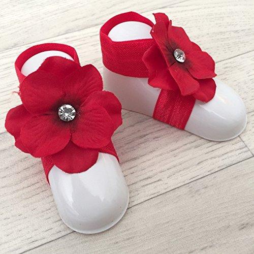 "accéssoire, couvres patas modelo ""orquídea brillantes rojo"