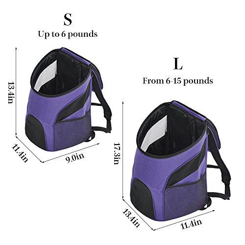 Pettom Dog Cat Pet Carrier Backpack