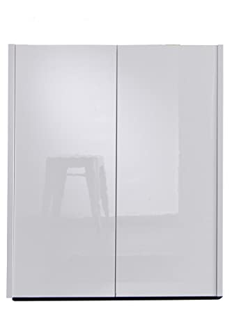 Furnline Hallway Cabinet Imola White High Gloss Wood 81x37x98 Cm