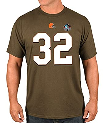 "Jim Brown Cleveland Browns Majestic NFL Men's ""HOF Eligible Receiver 4"" T-Shirt"