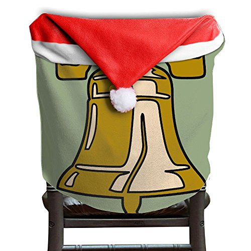 Christmas Seat Cover All Over 3D Printed Liberty Bell United States Fashion Back Covers For Christmas Dinner Seats Decor 1 Pcs Per Set 50x60CM - Village Liberty In Stores