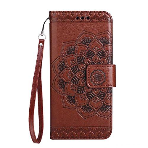COWX Huawei P10 Hülle Kunstleder Tasche Flip im Bookstyle Klapphülle mit Weiche Silikon Handyhalter PU Lederhülle für Huawei P10 Tasche Brieftasche Schutzhülle für Huawei P10 schutzhülle QEiGX