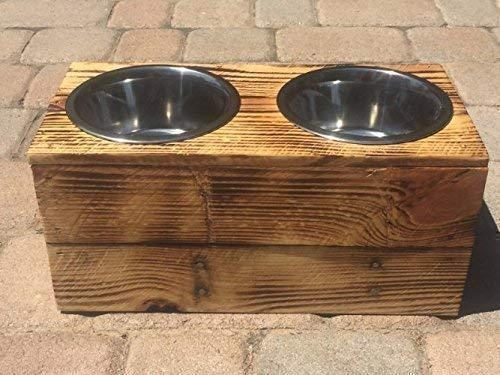 Double Extra Large Elevated Dog Dish // Extra Large 2 Bowl Feeding Stand // Dog Dish // Elevated Dog Bowl by 6 Dogs Decor (Image #5)