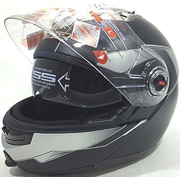 Casco de la Motocicleta LS2 FF370 SHADOW Casco de Gira Cascos Modulares Negro Mate (XL