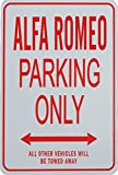 ALFA ROMEO Parking Only Sign - Mini Signs ideal for the motoring enthusiast