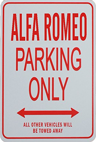 ALFA ROMEO PARKING ONLY - Miniature Fun Parking Signs - Ideal Gift for the Motoring Enthusiast