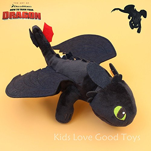 How To Train Your Dragon TOOTHLESS Night Fury Plush Toy Soft Doll 10