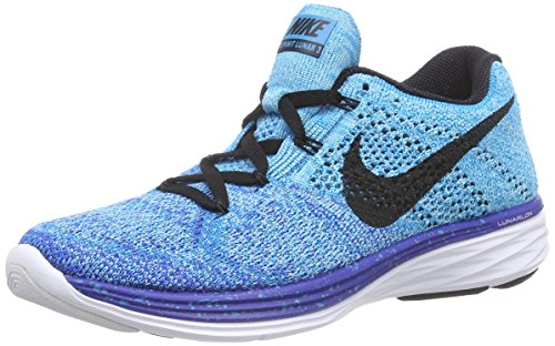 Nike Womens Wmns Flyknit Lunar3 Tessuto Fantasma Verde / Nero-rosa Blu - Blau (gm Royal / Blk-n Trq-unvrsty Bl 403)
