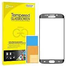 "S6 Edge Screen Protector, JETech Full Screen 5.1"" Premium Tempered Glass Screen Protector Film for Samsung Galaxy S6 Edge (Black) - 0890"