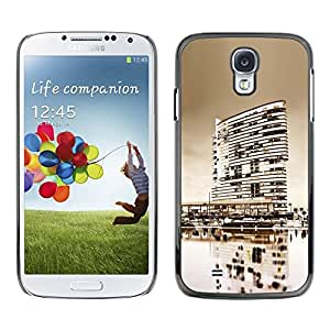 LECELL -- Funda protectora / Cubierta / Piel For Samsung Galaxy S4 I9500 -- Black & White City --