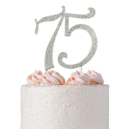 75 Rhinestone Birthday Cake Topper