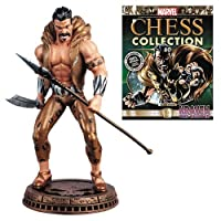 Marvel Kraven The Hunter Black Pawn Chess Piece with Collector Magazine #80