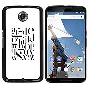 Be Good Phone Accessory // Dura Cáscara cubierta Protectora Caso Carcasa Funda de Protección para Motorola NEXUS 6 / X / Moto X Pro // Text White Black Letters Smart Minimalist