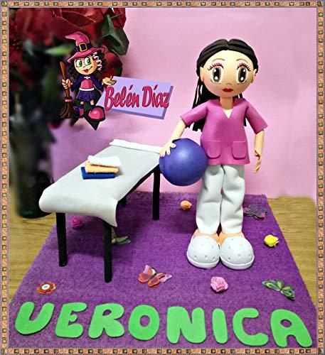 Fofucha Fisioterapeuta muñeca artesanal personalizada 35 cms 2