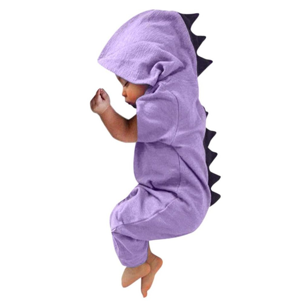 Simayixx Baby Boy Girls Clothes, Newborn Infant Baby Boy Girl Dinosaur Hooded Romper Jumpsuit Outfits