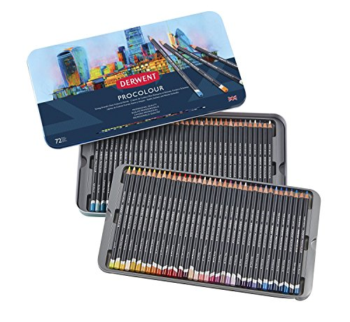 Derwent Colored Pencils, Procolour Pencils, Drawing, Art, Metal Tin, 72 Count (2302508) by Derwent