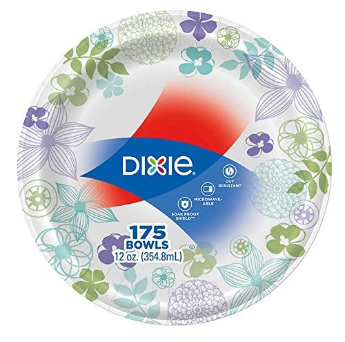 Dixie Ultra Heavyweight, Soak-Proof, Microwavable Paper Bowl 12oz 175ct