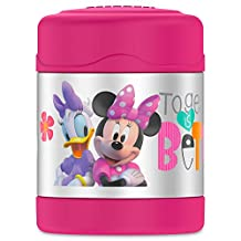 Thermos FUNtainer Food Jar, Minnie Mouse and Daisy Duck, 10 Ounce