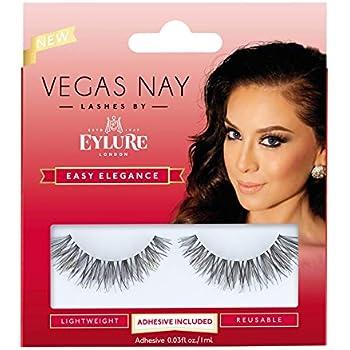 4cac305f970 Eylure Vegas Nay Easy Elegance Fake Eyelashes, Reusable, Adhesive Included,  1 Pair