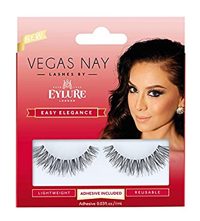 ea4a4910bbe Amazon.com : Eylure Vegas Nay Easy Elegance Fake Eyelashes, Reusable,  Adhesive Included, 1 Pair : Beauty