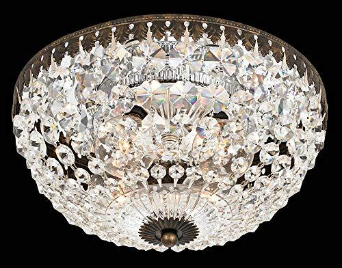 (Schonbek 1560-76A Swarovski Petit Crystal Flush Mount Lighting Fixture, Heirloom Bronze)