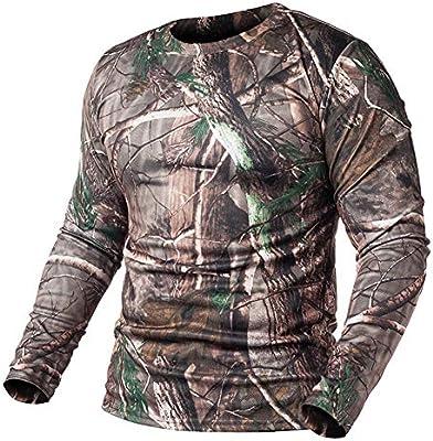 DNBUIFHSD Camiseta de Camuflaje táctico de Manga Larga de Primavera Hombres Soldados Combate Camiseta Militar Camisa de Secado rápido con Cuello en O Camo Army-Tree_Camo_3XL: Amazon.es: Deportes y aire libre