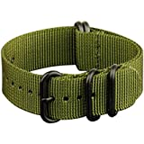 INFANTRY® G10 5 Rings Military ZULU Watch Band Fabric Nylon Strap 22mm Strong Divers