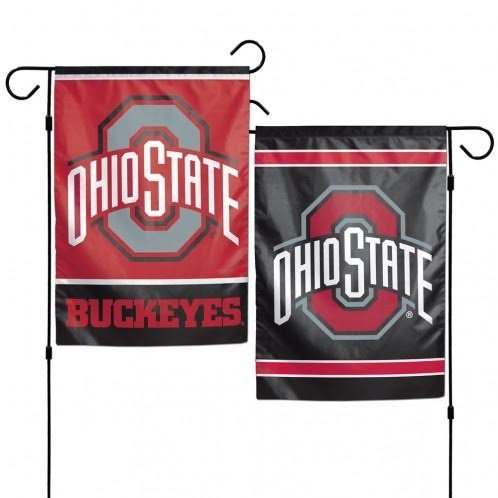 NCAA Ohio State Buckeyes 12 x 18 inch 2-Sided Garden Flag