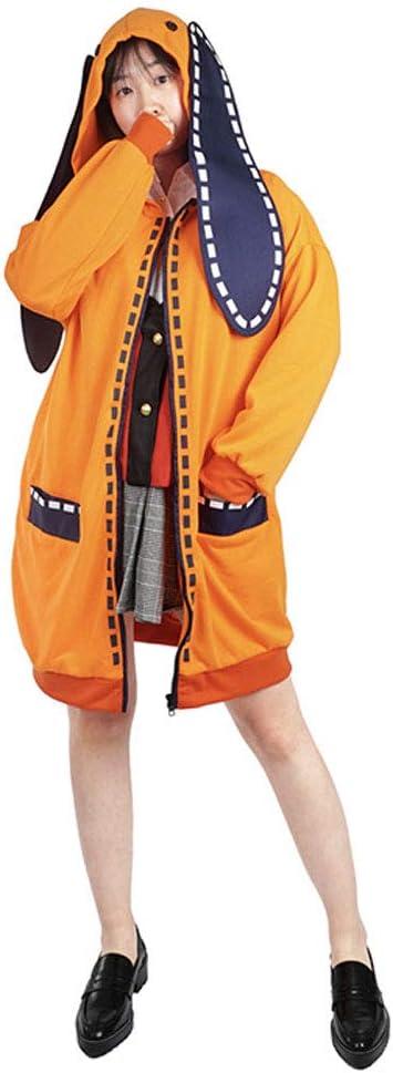 LJLis Nouveaut/é Cosplay pour Costumes de f/ête kakegurui Yomoduki Runa Anime Hoodie Manteau Veste,S