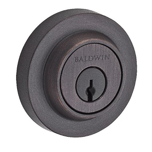 Baldwin DCCRD112 Reserve Double Cylinder Contemporary Round Deadbolt, Aged Bronze Finish by Baldwin