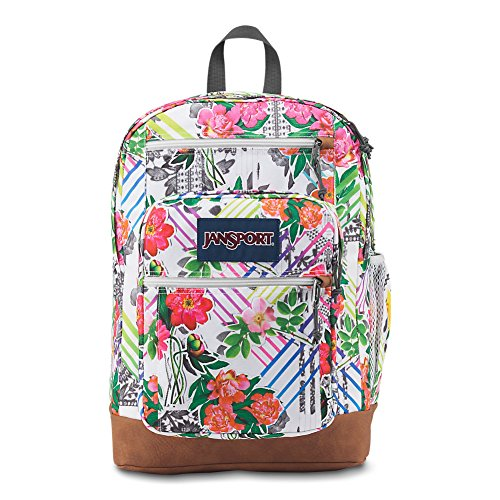 Collage Pack - JanSport Cool Student Laptop Backpack - Collage Floral
