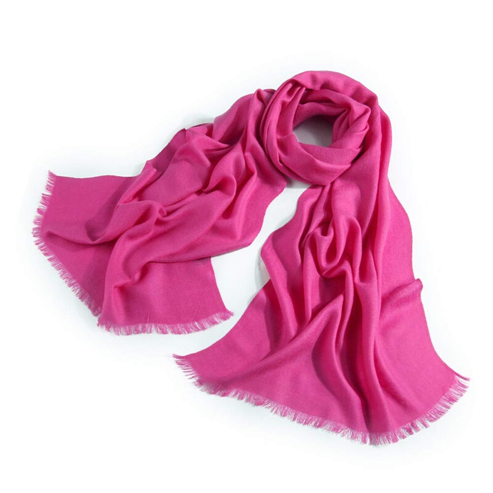 pink red Long Scarves Wrap Shawl Long Stole Thick Style Scarf Headscarf Neck Wrap Stole MufflerSolid color Autumn and Winter Warmth and Long Thickening HENGXIAO (color   Light Purple, Size   200  60cm)