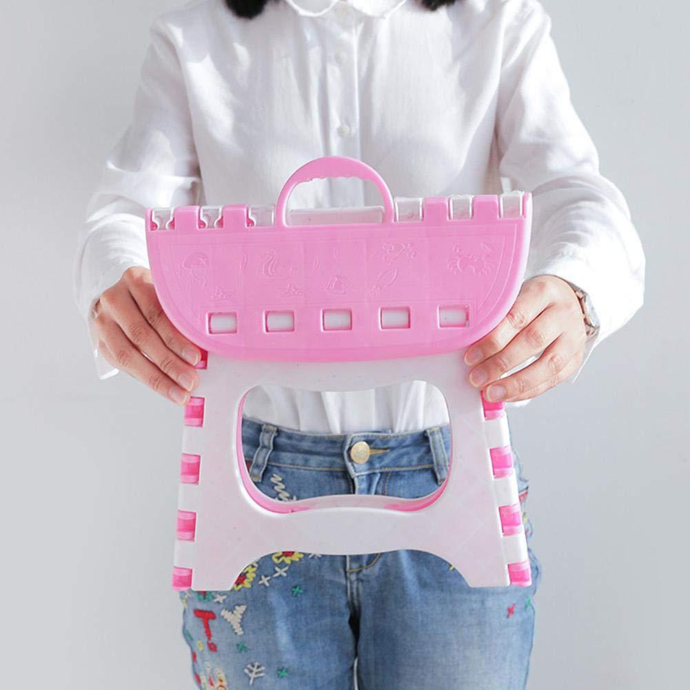 Piccolo Sgabello Pieghevole Portatile per Bagno allaperto per Bambini Adulti Dadahuam Sgabello Pieghevole in plastica