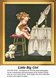 Little Big Girl, Vintage Counted Cross Stitch Pattern (Pattern Only, You Provide the Floss and Fabric)