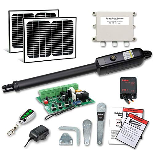 TOPENS A3S Automatic Gate Opener Kit Light Duty Solar Single