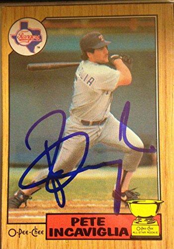 Pete Incaviglia Autographed 1987 O-Pee-Chee - Pete 384