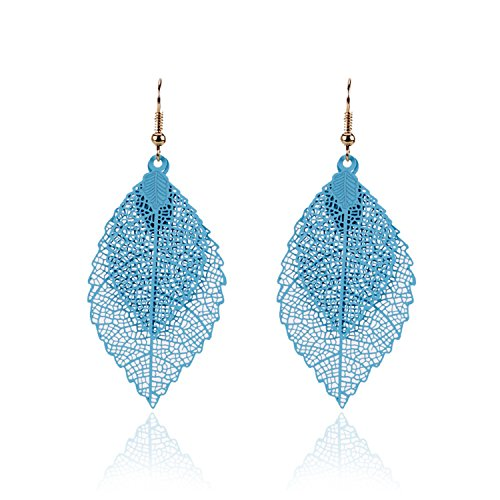 Nordstrom White Ring - Women Earings Vintage Leaves Drop Earrings Luxury Boho Leaf Dangle Earrings Hollow Out Earrings Women Jewelry Blue