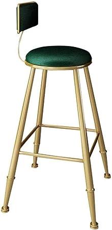 NYSCJJJ Tabouret de bar rond en tissu de velours avec assise