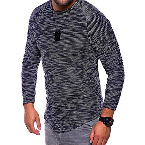 4XL Autumn Men's T-Shirt Casual Long Sleeve O Neck Tops Blou