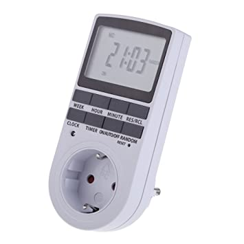 Temporizador Digital Programable UEB con Gran Pantalla LCD Enchufe Programador Diario / Semanal Temporizador Electrónico ...