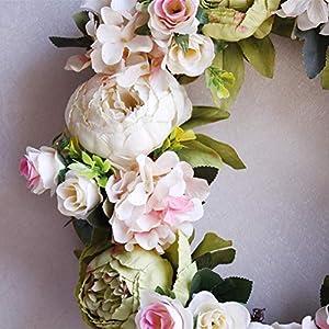 Luckycyc Peony Artifical Garland Door Hanging Decoration Wedding Flower Photography Wedding Flower Wreath Living Room Floral Decoration 4