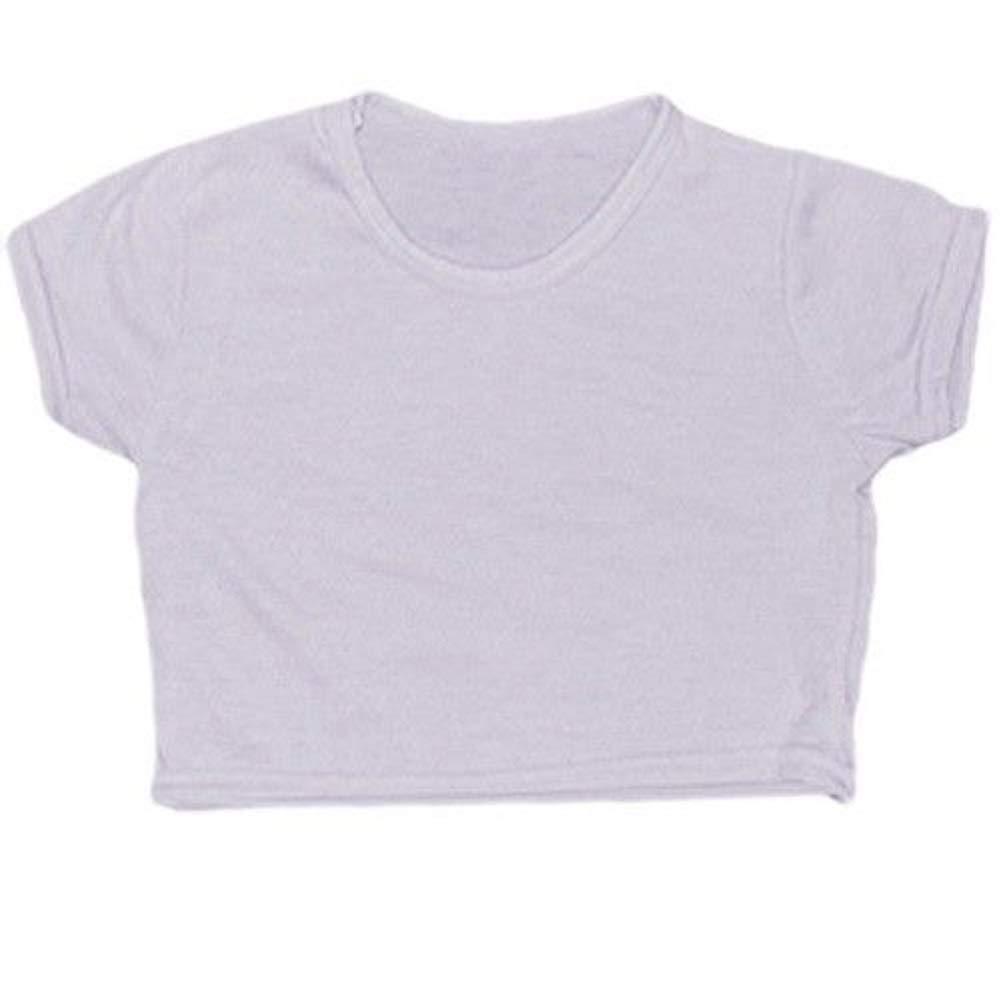 Zeetaq Girls Plain Crop Top Kids Short Sleeve Summer T-Shirts Dancewear Year Age 5-13 Years