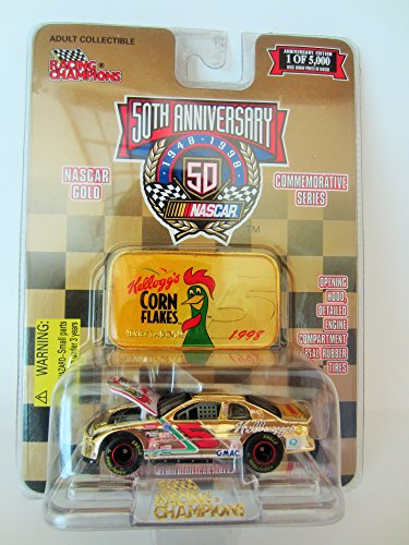 Terry Kelloggs - 1998 Racing Champions - NASCAR #5 Kellogg's Terry Labonte - 50 Year Anniversary -Limited Run 1 of 5000 Gold Chrome Commemorative Series 1:64 Scale