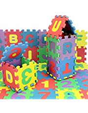 36 Pcs/Set Kids Alphanumeric Puzzle Mats- 12 * 12cm Children's Educational Exercise Play Mat Colorful Blocks Toy Baby Floor Mats Infant Child Gifts