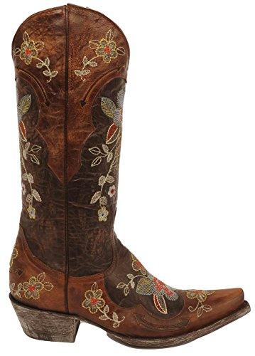 Old Gringo Women's Bonnie Western Boot, Chocolate/Brass, 8 B US