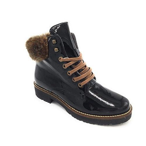 Pitillos 5397 Bota Cordones combinada Charol Negro: Amazon.es: Zapatos y complementos
