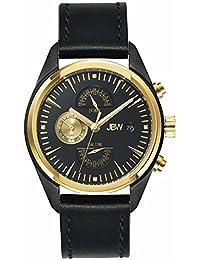 JBW Men's J6300C The Woodall Analog Display Swiss Quartz Black Watch