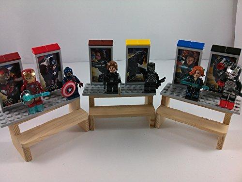 [SUPAK® Captain America 3 Civil War Iron Man Winter Soldier Black Widow Marvel MiniFigures Toy Super Heroes Series Action Figure Building Blocks Brikcs Set Compatible] (Winter Soldier Costume Ideas)