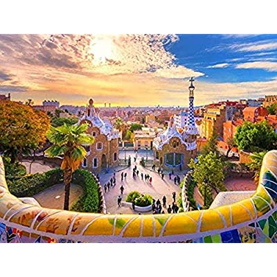 Puzzle 1000 Piece Jigsaw Puzzle for Adults,Bzdthh,Landscape Poster Barcelona,Every Piece is Unique,Pieces Fit Together Perfectly: Toys & Games